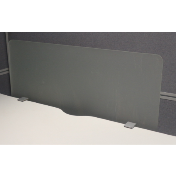 Perspex 870w Desk Mounted Screen with Clamps