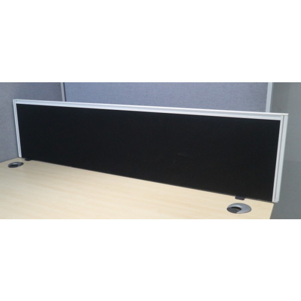 Black 1600w Desk Mounted Screen