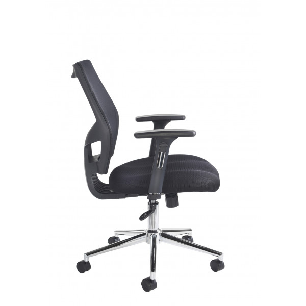 Grantham black Mesh/fabric managers chair