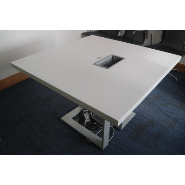 Square White 1110 Meeting Table With Power/Data Pack