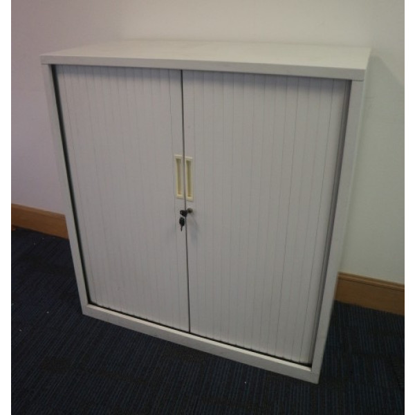White 1080h Tambour Cupboard