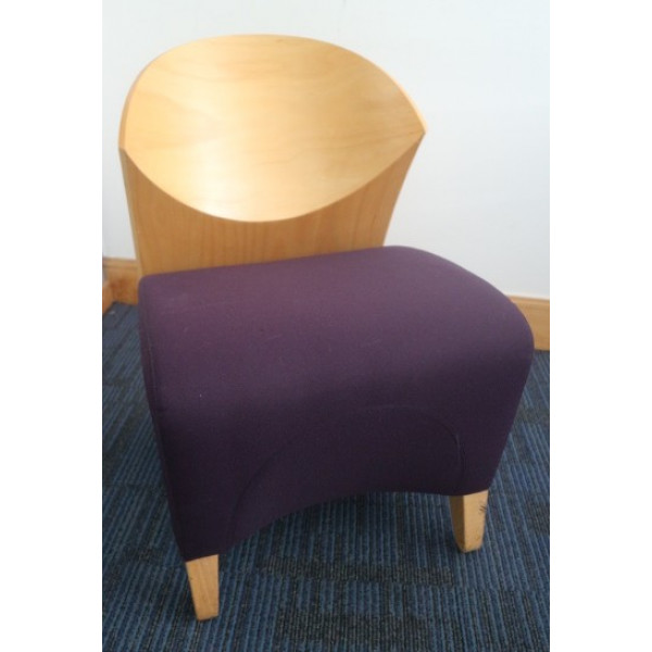 Purple & Beech Reception Chair