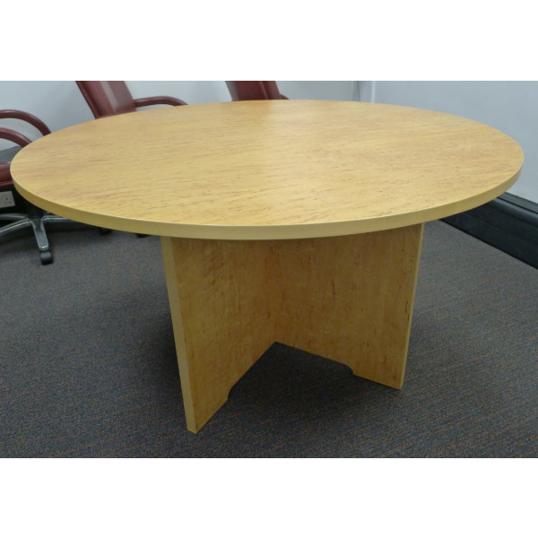 Beech Birds Eye Veneer 1000 diameter Meeting Table