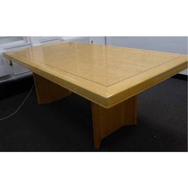 Beech Birds Eye Veneer with Inlay 2000 x 1000 Meeting Table