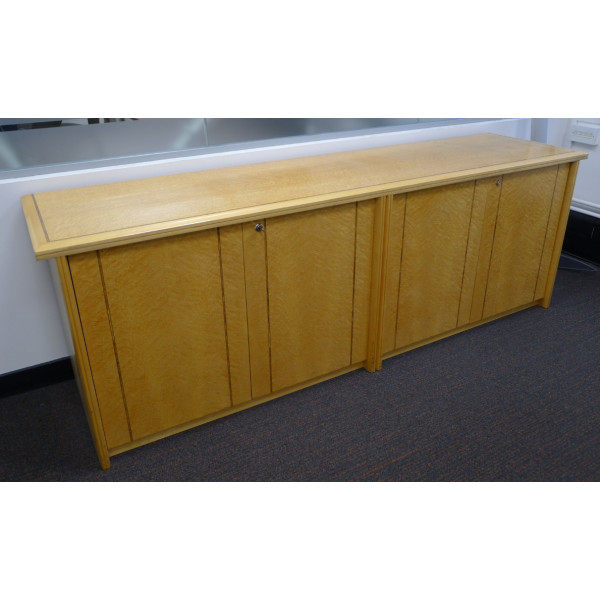 Beech Birds Eye Veneer Credenza with Inlay