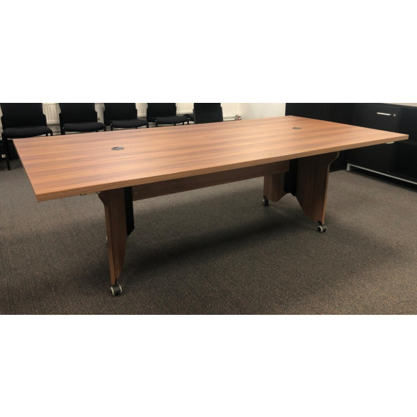 Walnut Modular 2400 x 1200 Meeting Table