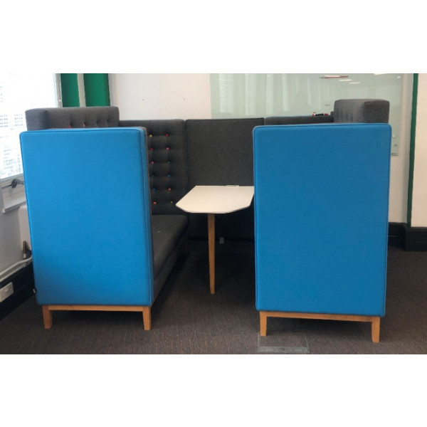 Frovi Jig Cave Blue & Grey Seating Booth