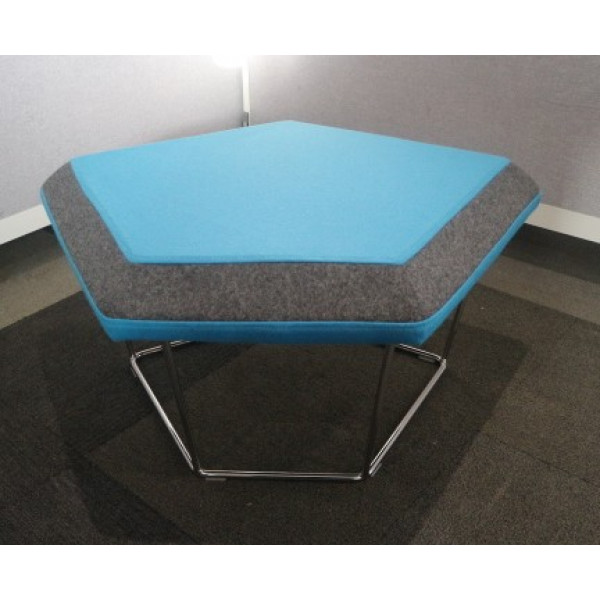 Frovi Blue Stool With Grey Edge