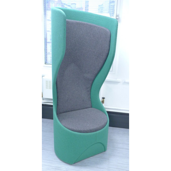 Frovi Hide Swivel Green & Grey Single Booth