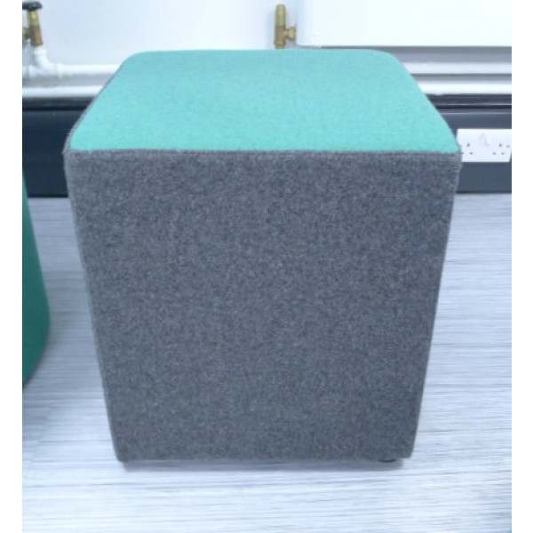Frovi Green/Grey Cube Stool