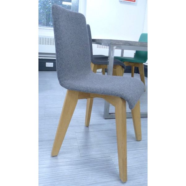 Frovi Grey Fabric Jig Chair