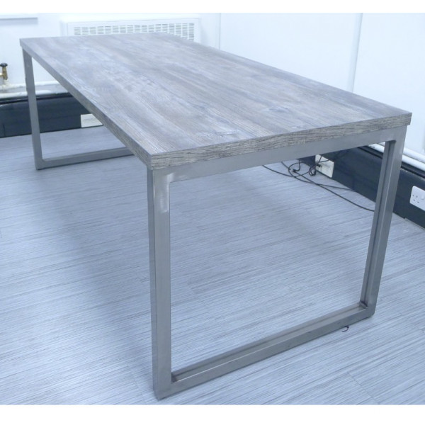 Frovi Block Steel 1800 x 800 Team Table