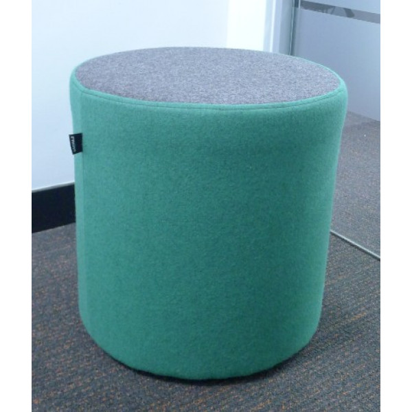 Frovi Grey & Green Round Foot Stool