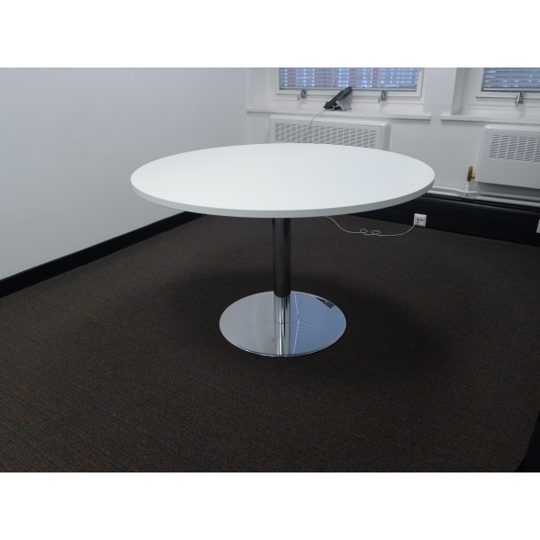 White 1000 diameter Meeting Table