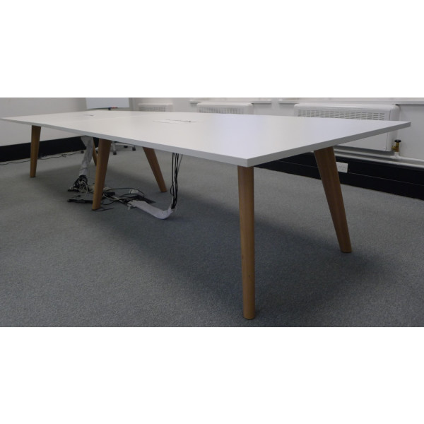 Senator Pailo White 4000 x 1200 Meeting Table with Power/Data
