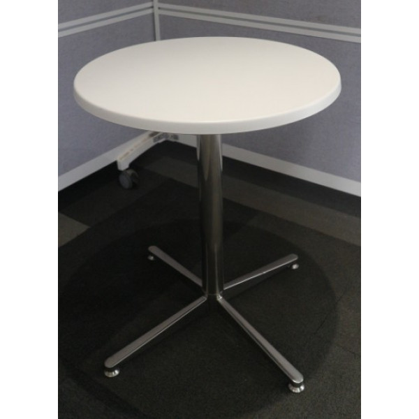 White Gloss 600 diameter Table