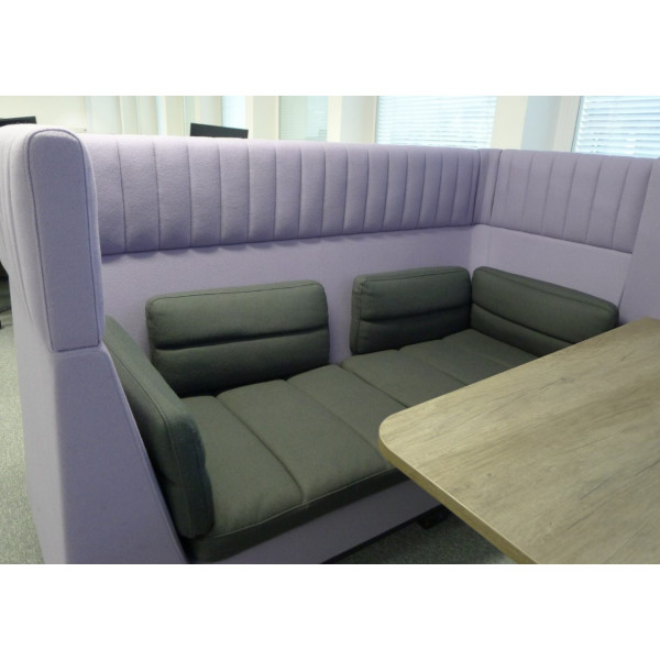 Senator Allermuir Haven Lilac & Grey Seating Booth