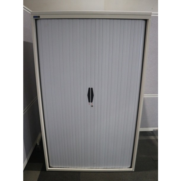 Silverline 1650h White Tambour Cupboard