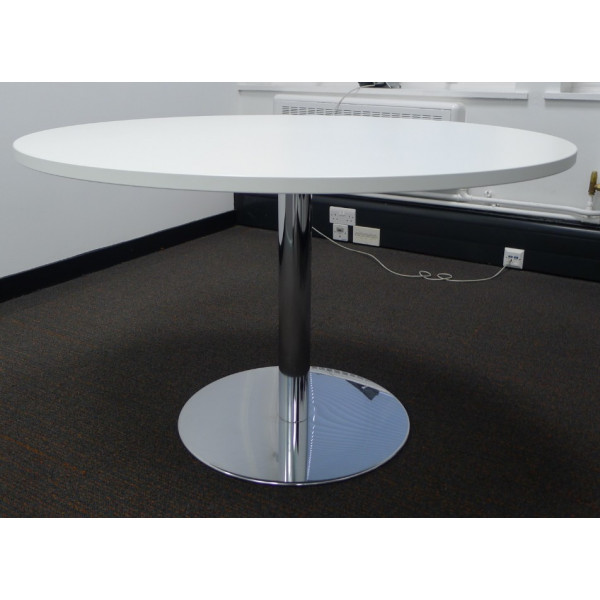 White 1200 diameter Meeting Table