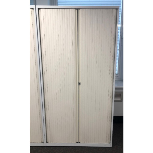 White 1950h Tambour Cupboard