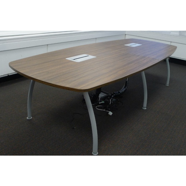 Zebrano 3000 x 1200 Oval Meeting Table with Power/Data