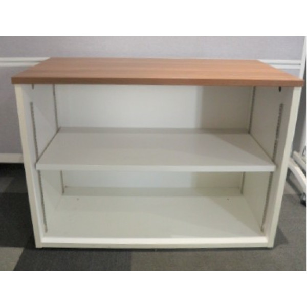 White D/H Bookcase with Walnut Top