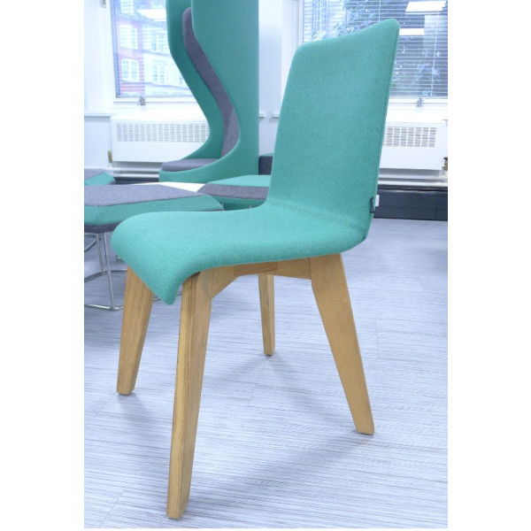 Frovi Green Fabric Jig Chair