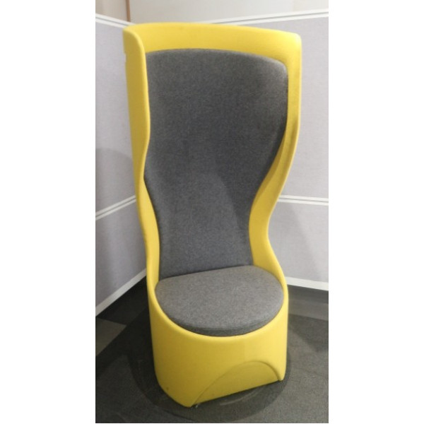 Frovi Hide Yellow/Grey Swivel Single Booth Chair