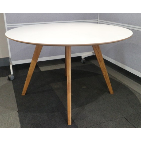 White 1190 diameter Meeting Table