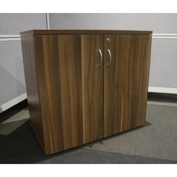Walnut Desk High D/D Cupboard