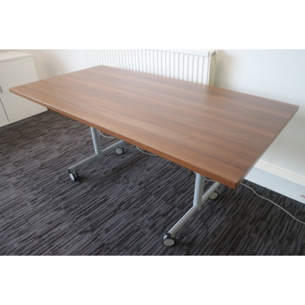 Walnut 1600 x 800 Flip Top Meeting Table