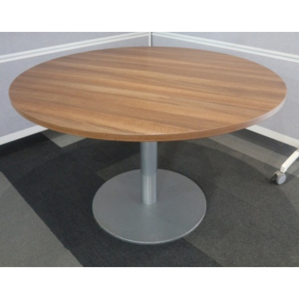 Walnut 1200 diameter Meeting Table
