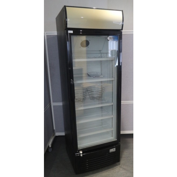 Coolpoint Black with Glass Front Display Fridge