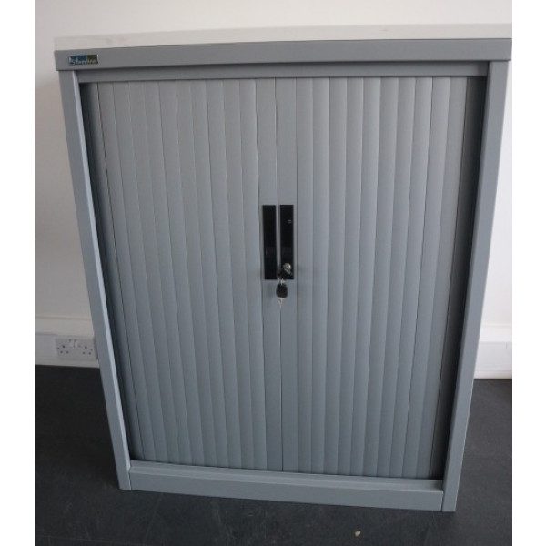 Grey 1050h Tambour Cupboard