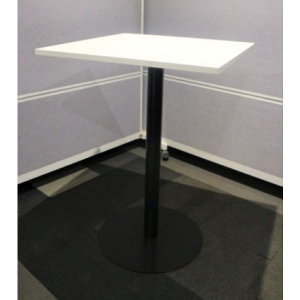 White 800 Square High Table