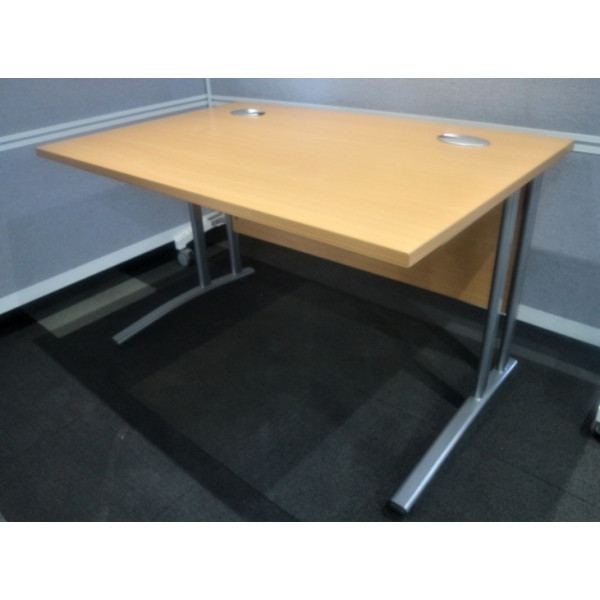 Value Straight 1200mm Beech Desk