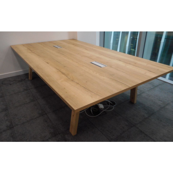 Nebraska Oak Meeting Table