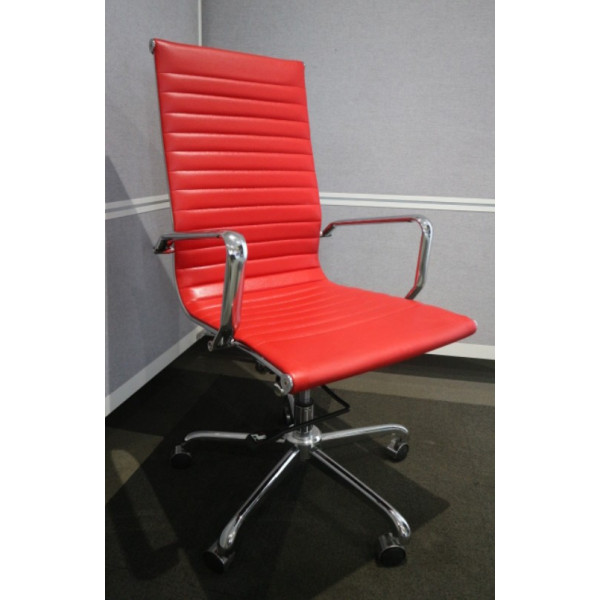 Red Leather Operators Chair