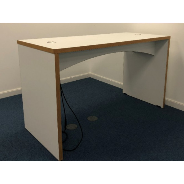White High Table with 2 x Power Ports