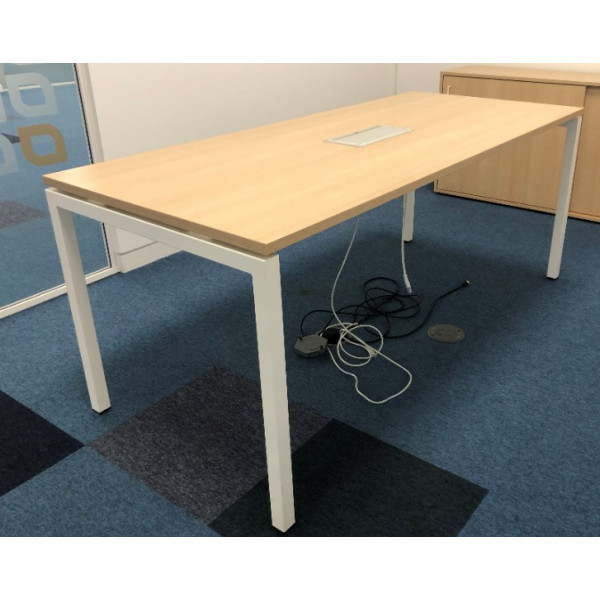 Narbutas Oak 1800w x 800d Meeting Table with Power/Data