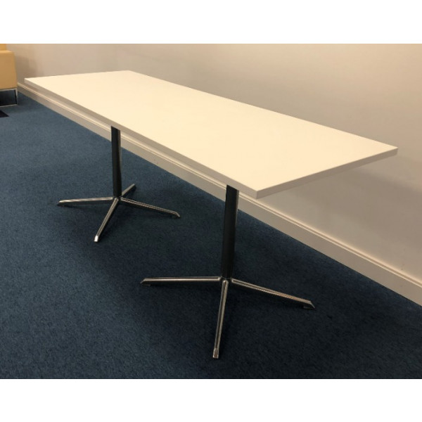 White 1800 x 660d Meeting Table