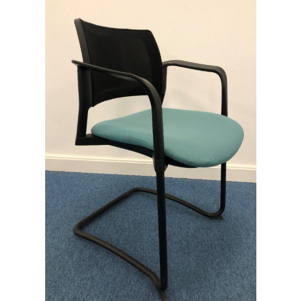 Senator Teal Mesh Back Meeting Chair