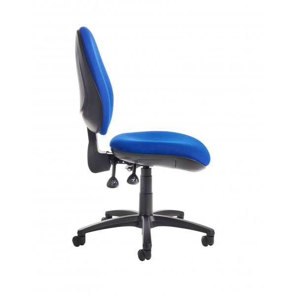 Jota high back operator chair no arms blue