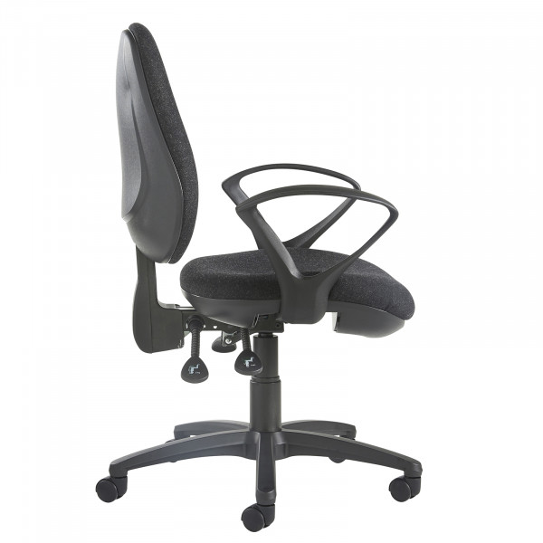 Jota high back operator chair fixed arms charcoal