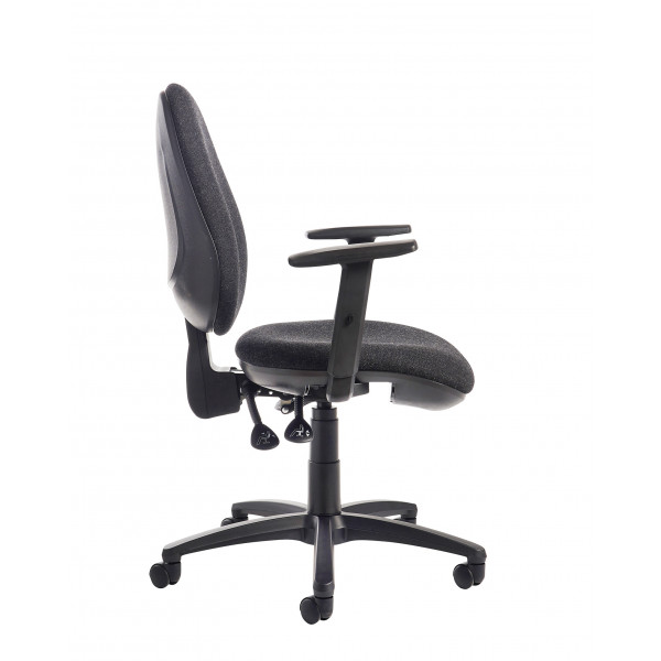 Jota high back operator chair adjustable arms charcoal