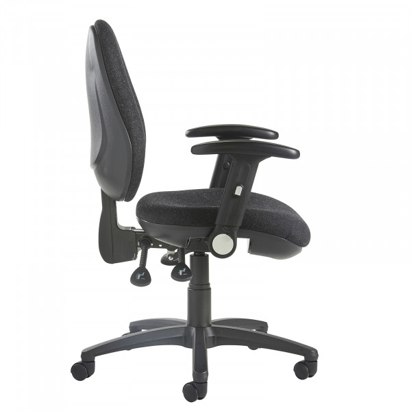 Jota high back operator chair folding arms charcoal