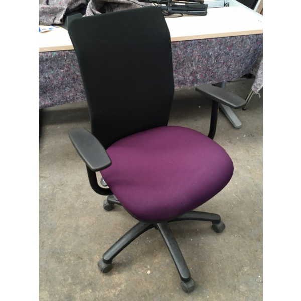 Pledge Air Black Mesh Back/Purple Seat Operators Chair