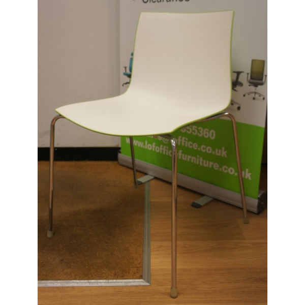 Arper Catifa Lime Green Backed Canteen Chair