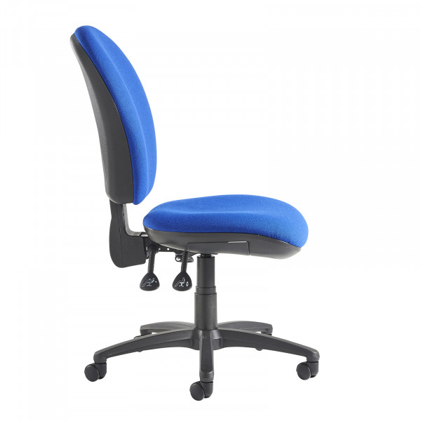 Lento high back operator chair no arms blue