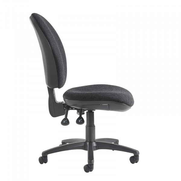 Lento high back operator chair no arms charcoal